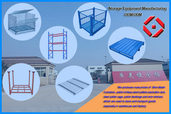 stainless steel warehouse storage wire mesh roll cage - Buy